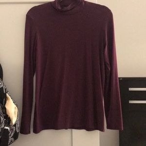 Women's Banana Republic Mock neck top purple